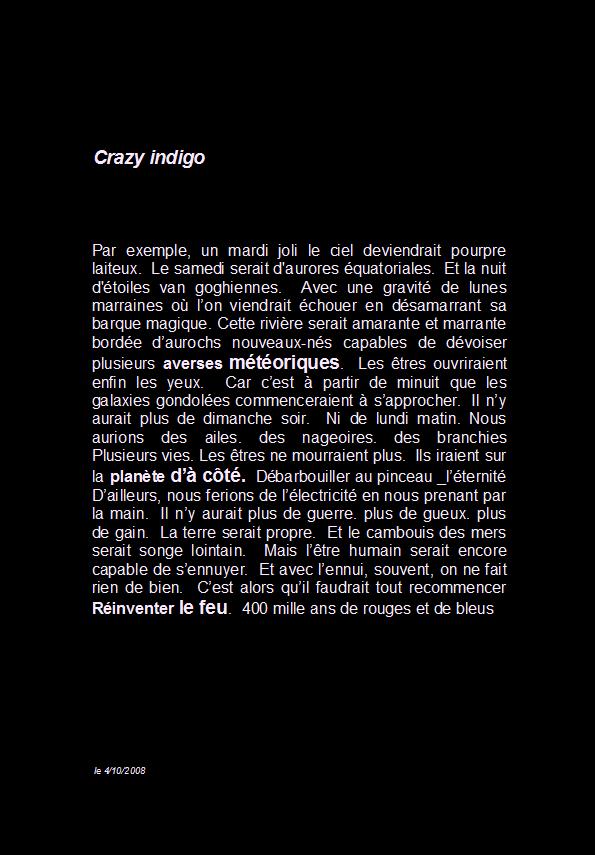 Crazy indigo