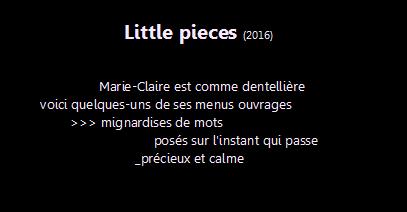 little pieces, intro5